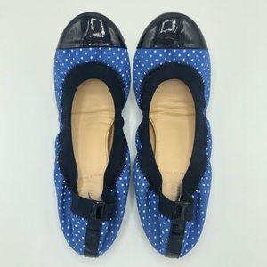 J. Crew Blue Polka Dot Mila Ballet Flats size 6